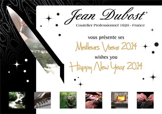 L'équipe Jean Dubost vous présente ses meilleurs voeux pour 2014